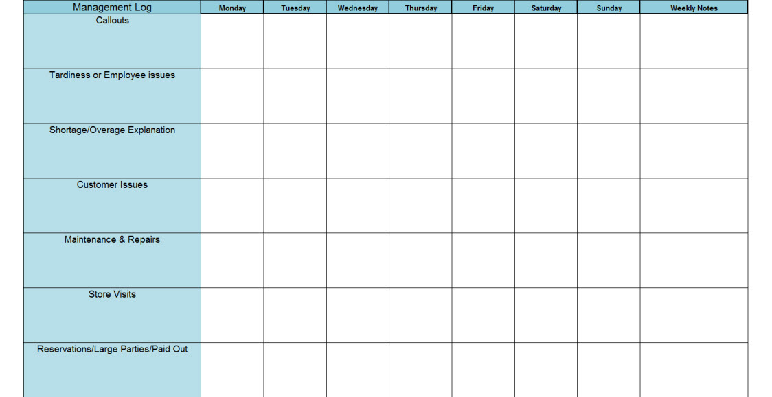 16+ Sample Daily Driver Log Book Templates | Excel124 |Daily Log Book For Restaurants