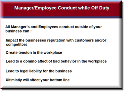 employee conduct agreement form