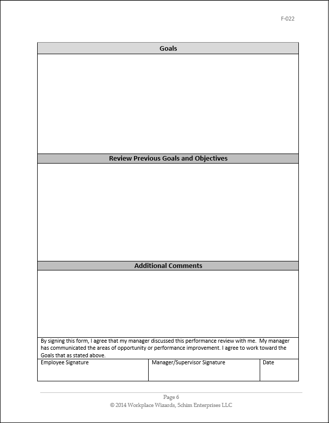 restaurant employee review form images manager performance appraisal
