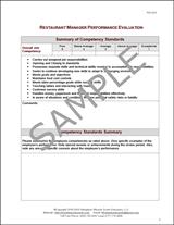 Restaurant Manager Performance Evaluation