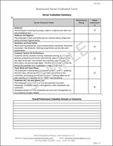 Waiter Evaluation Form