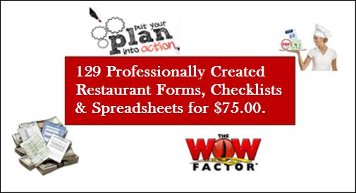 restaurant forms