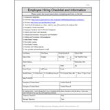 employee new hire checklist