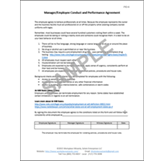 Employee Conduct Performance Agreement Form