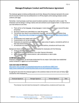 employee conduct performance agreement