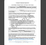 Property Damage and Cash Shortage Agreement