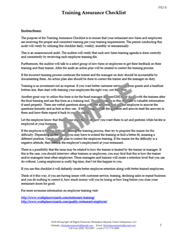 training assurance checklist