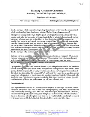 employee Training Assurance Checklist