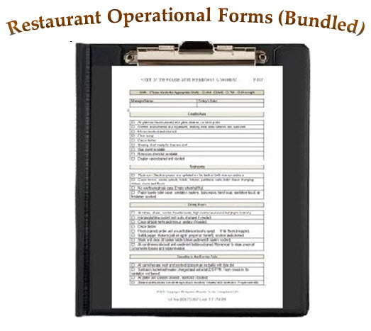 restaurant operational forms