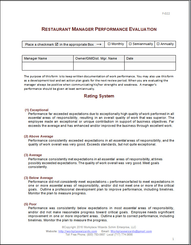 Employee performance review template - visualbrains.info