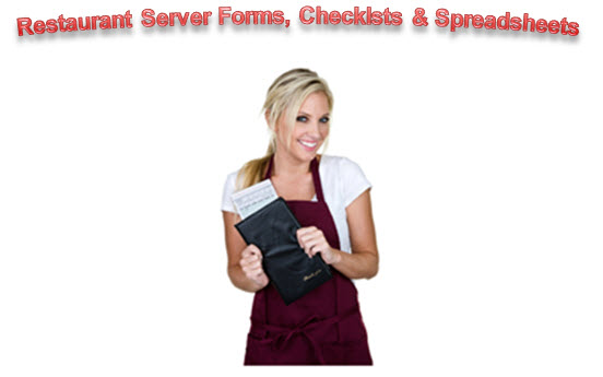 restaurant server checklists