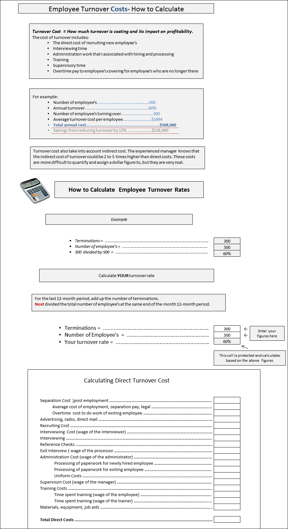employee cost calculator spreadsheet