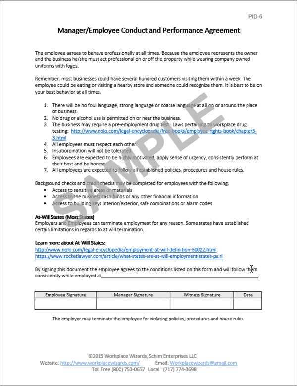 Restaurant Human Resource Forms - Workplace Wizards Consulting